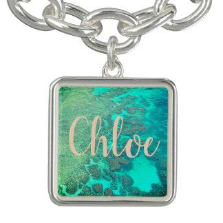 Customizable coral reef charm bracelet