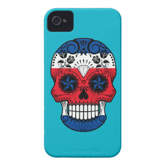 Customizable Costa Rican Sugar Skull with Roses iPhone 4 Case