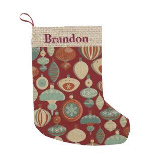 Customizable Country bulb Christmas stocking