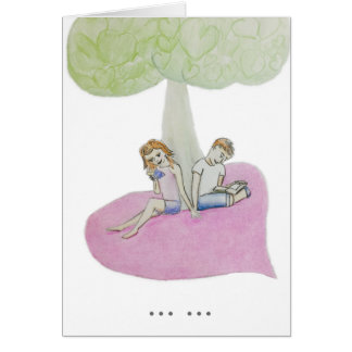 Customizable couple reading on a valentine card
