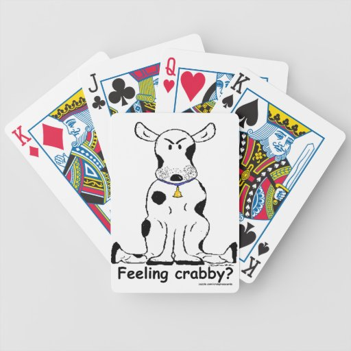 Customizable crabby cow on playing card deck!