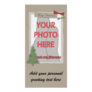 Customizable Craft Style Christmas photo Cards