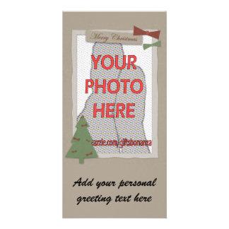 Customizable Craft Style Christmas photo Cards