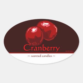 Customizable Cranberry Oval Sticker