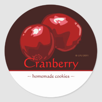Customizable Cranberry Stickers