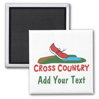 Customizable Cross Country Running Magnet