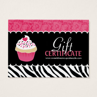 Customizable Cupcake Gift Certificate