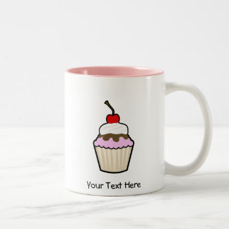 Customizable Cupcake Two-Tone Coffee Mug