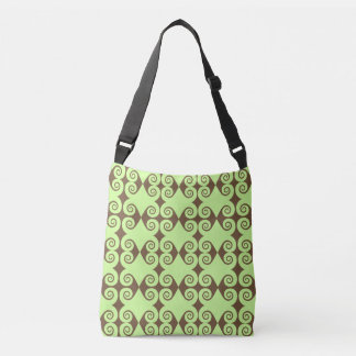 Customizable Curls Pattern Crossbody Bag