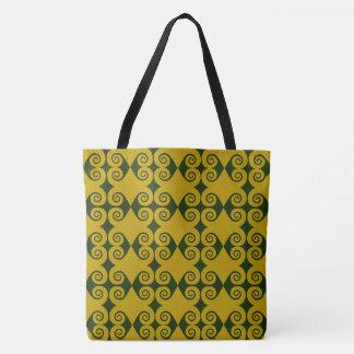Customizable Curls Pattern Tote Bag
