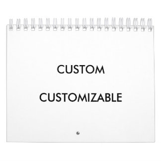 Customizable Customize Custom Blank 2017 Calendars