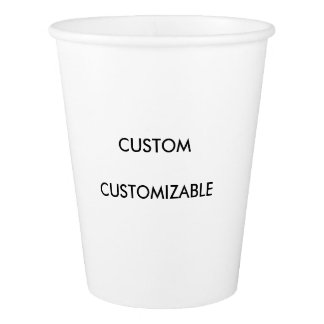Customizable Customize Custom Blank Paper Cup