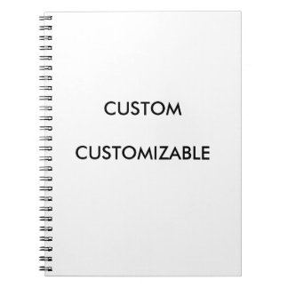 Customizable Customize Custom Blank Spiral Note Book