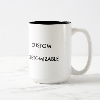 Customizable Customize Custom Blank White Two-Tone Coffee Mug