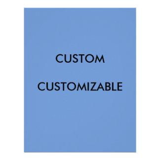 Customizable Customize Custom Blue Blank Letterhead Design