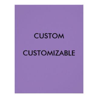 Customizable Customize Custom Purple Blank Letterhead