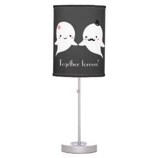 Customizable Cute Ghost Couple Table Lamp