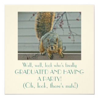 CUSTOMIZABLE CUTE INVITATION (SQUIRREL ON FENCE)