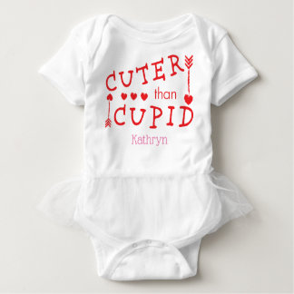 Customizable Cuter than Cupid Valentine's Day Baby Bodysuit