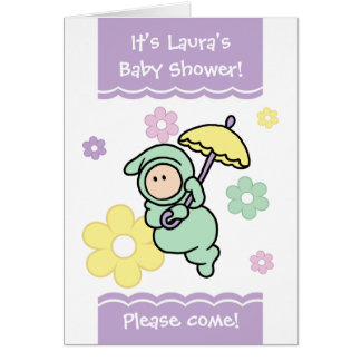 Customizable Cutietoots Baby Shower Invitation