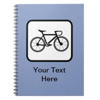 Customizable Cyclist Logo Notebook