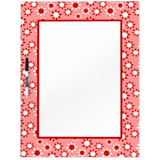 Customizable Daisies Dry Erase Board