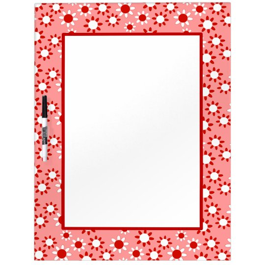 Customizable Daisies Dry Erase Boards
