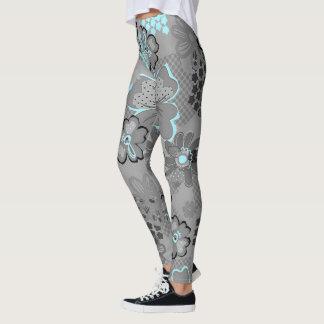 customizable dark floral womens leggings
