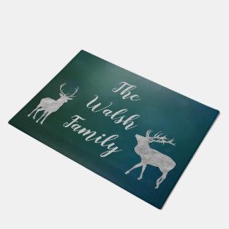 Customizable Deer Welcome Mat