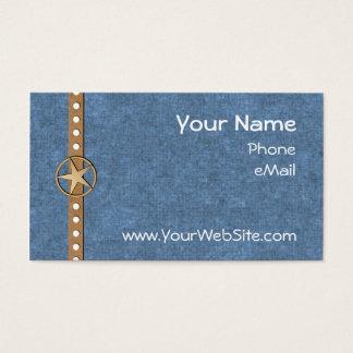 Customizable Denim Lonestar Business Cards