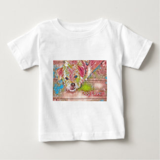 Customizable Design With Digital Drawing Of Dog Baby T-Shirt