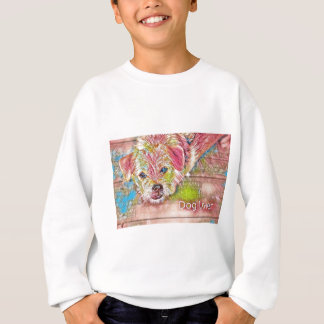 Customizable Design With Digital Drawing Of Dog Sweatshirt