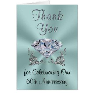 Customizable Diamond Anniversary Thank You Cards