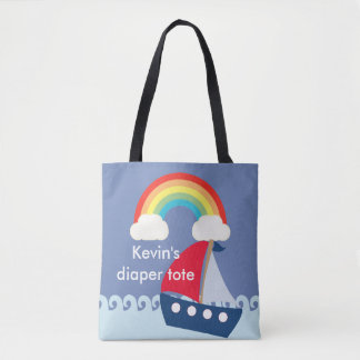 Customizable diaper tote, diaper bag with boat