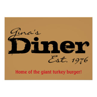Customizable Diner Poster