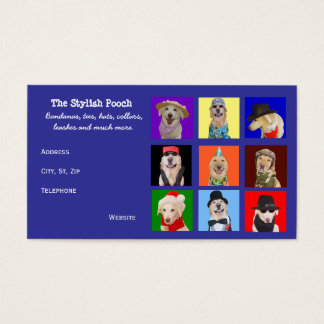 Customizable Dog Accessories Business Card