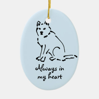Customizable Dog Memorial Ornament