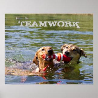 Customizable Dog Teamwork Poster