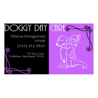 Customizable Doggy Day Care Business Card
