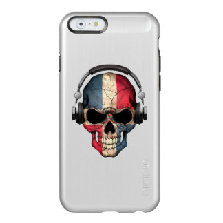 Customizable Dominican Dj Skull with Headphones Incipio Feather® Shine iPhone 6 Case
