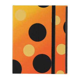 Customizable Dots On Blended OrangeToYellow iPad Covers