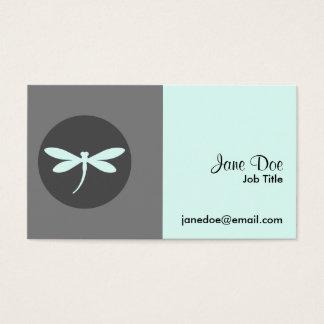 Customizable Dragonfly Colour with Grey BG Design Business Card