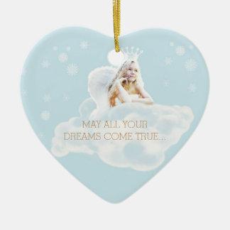 Customizable Dream Angel Heart Ornament