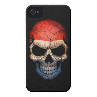 Customizable Dutch Flag Skull Case-Mate iPhone 4 Cases