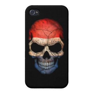 Customizable Dutch Flag Skull Cases For iPhone 4