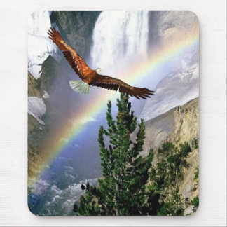 Customizable Eagle in Flight Mouse Pad