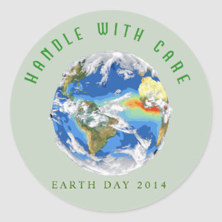 Customizable Earth Day 2014 Sticker - Planet Earth