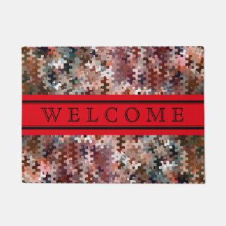 Customizable Earth Toned Multicolored Pattern Doormat