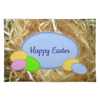 Customizable Easter Eggs Cloth Placemat