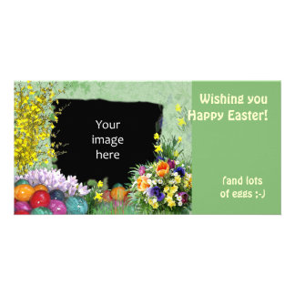 (Customizable) Easter Frame Photo Card